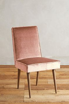 Slub Velvet Zolna Chair - anthropologie.com