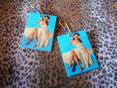 Handmade Laminated Gil Elvgren Pin Up Earrings