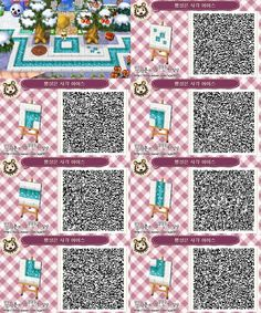 Animal Crossing 3ds, Animal Crossing Qr Codes Clothes, Acnl Paths, Motif Acnl, Ac New Leaf, Happy Home Designer, Rainbow Painting, Camping Outfits, Coding