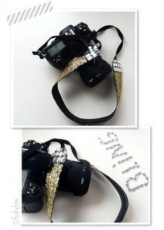DIY: Glitter Camera Strap