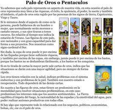Oros - tarotnuevavidencia.com Tarot Significado, Tarot Card Meanings, Tarot Spreads, Tarot Reading, Tarot Cards, Wicca, Horoscope, Astrology, Tarot Card Art
