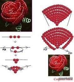 Image result for seed bead flower designs