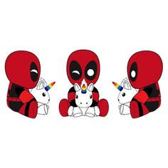Deadpool with Unicorn Phunny Plush - Kidrobot - Deadpool - Plush - Inspired by the Deadpool 2 movie, everyone's favorite neighborhood pool guy is back in action in fine PHUNNY form, with a magical sidekick along for the ride. The Merc is seated in a locked leg position with the unicorn in his lap, and it probably feels huge in his hand. Order your Deadpool with Unicorn Phunny Plush today!