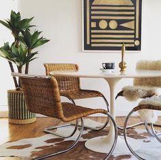 homenature vintage - mies van der rohe mr10 chairs