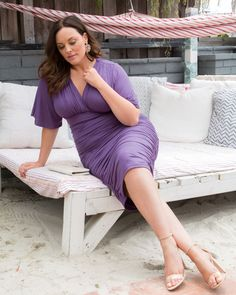 Kiyonna Womens Plus Size Rumor Ruched Dress size dresses to wear to a wedding Rumor Ruched Dress Plus Size Bodycon Dresses, Plus Size Cocktail Dresses, Swimsuits For Big Bust, Plus Size Swimwear, Dresses To Wear To A Wedding, Prom Dresses, Big Size Dress, Lavender Dresses, Hollywood Fashion