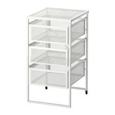 IKEA - LENNART, 引き出しユニット, , キャスター付きなので移動が簡単です引き出しにはA4サイズとレターサイズの用紙が入ります