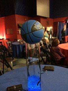 Fabulous basketball centerpiece for a Bar Mitzvah