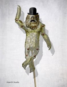 DIY paper articulated Doll puppet Bigfoot by Raidersofthelostart, $3.50