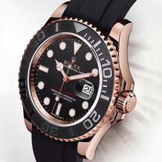 """ROLEX Yacht-Master 116655 Watch In Everose Gold With Black Ceramic Bezel For…"