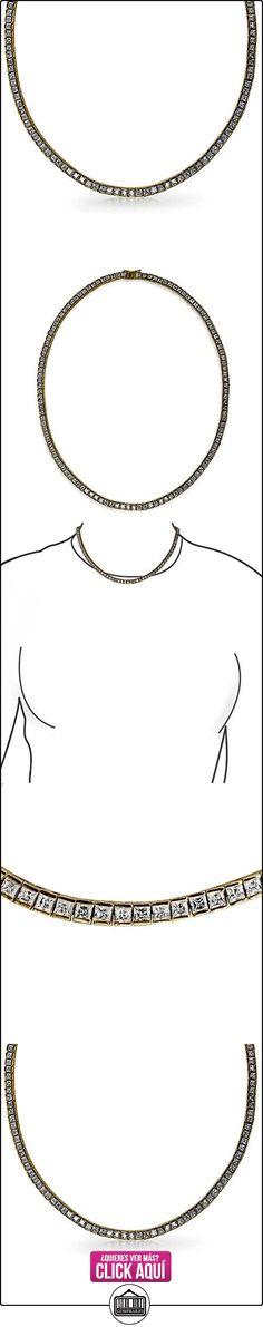 Bling Jewelry Canal Conjuntos Corte Princesa Chapado en Oro Collar de Tenis 17en  ✿ Joyas para niñas - Regalos ✿ ▬► Ver oferta: https://comprar.io/goto/B003DIP4PM