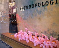Anthropologie - walking pink balloon poodles
