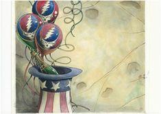 Tim Truman Grateful Dead CD back cover Comic Art