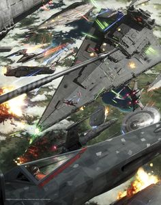 """Breathtaking Art that Puts the """"Wars"""" in Star Wars- epic"""