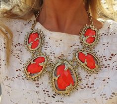 Gold and coral - one of my favourite colour combinations