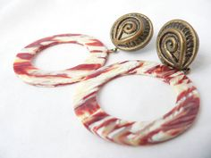 Cool 1970s CHUNKY BOHO EARRINGS by HousewifeVintage on Etsy, $12.00