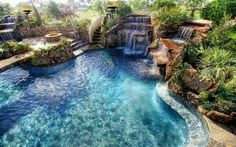 A gorgeous backyard pool