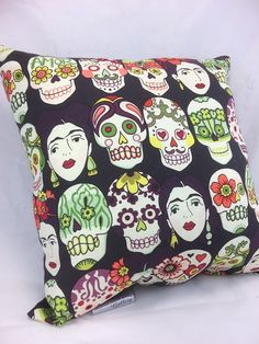 """Group One Home® designs and Handcrafts each pillow with Quality and uniqueness in mind.   Group One Home® specializes in Novelty & """"Man-Cave"""" pillows.  Each pillow is pre-f... #etsy #handmade #dogs #mothersday #fathersday #gifts #doglovers #noveltypillows #mancave #decor #unique #frida #folkart #mexican"""