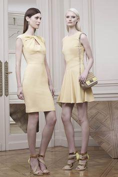 Left dress, neckline detail. From Elie Saab, Resort 2015