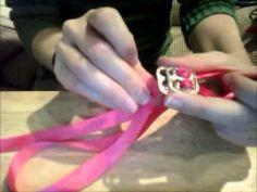 Great youtube tutorial on making pop tab bracelet with satin ribbon