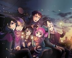 Poster - rooftop gang from Anna Blue Gothic Fairy, Gothic Anime, Anime Fantasy, Fantasy Girl, Manga Anime, Anime Art, Anna Blue, Friends Poster, Blue Poster