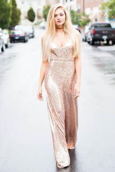 Rose Spritz Sequin Maxi Dress – Swoon Boutique