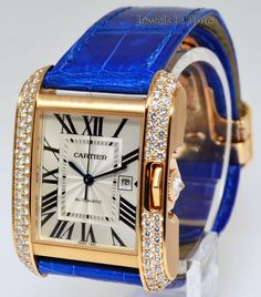 Cartier Tank Anglaise 18k Rose Gold Diamond Watch Box/Papers + Extras WT100016 #Cartier #LuxuryDressStyles