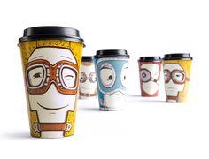 me late ...vasos con personalidad..ideal para un cafe informal