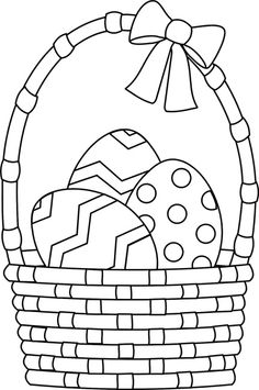 Easter Egg Coloring Pages Bluebonkers Easy Easter Egg Outlines Easter Basket Coloring Pages