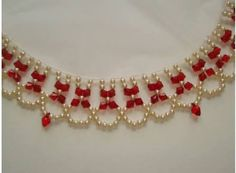 Beaded Necklace Patterns, Beading Patterns, Seed Bead Necklace, Diy Necklace, Necklaces, Beaded Anklets, Bead Art, Bead Weaving, Beaded Embroidery