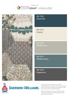 We have used some of these colors and they are absolutely beautiful - Mindful Gray and Peppercorn we used throughout our great room.