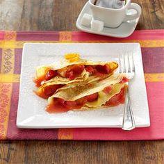 Sweet-Tart Rhubarb Crepes Recipe