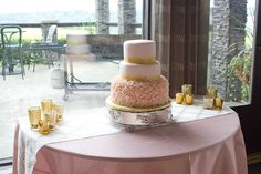 Wedding Cake Pink and gold