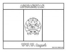 Printable Flag Of Afghanistan Coloring Page