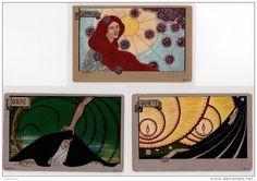 CAMELLI : série complète de 6 cartes postales vers 1900 - bon état (coins légèrement arrondis)