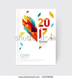 Scatter Triangles  Vector White Business Brochure Cover Template