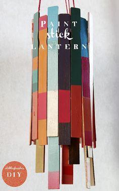 paint stick lantern