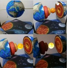 solar system projects for kids Kid Science, Science Activities For Kids, Science Experiments Kids, Science Education, Diy And Crafts, Crafts For Kids, Paper Crafts, Earth Science Projects, Solar System Projects