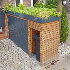 Backyard Plan, Backyard Patio, Backyard Landscaping, Back Garden Design, Fence Design, Backyard Storage Sheds, Bike Shed, Outdoor Spaces, Outdoor Decor