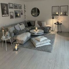 living room inspiration 51 brilliant solution small apartment living room decor ideas and remodel 12 Small Apartment Living, Small Living Rooms, Home And Living, Modern Living, Small Apartments, Living Room Ideas Modern Grey, Simple Living, Living Room Ideas Black And White, Modern Couch