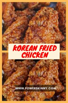 Brown Sugar Garlic Chicken is an easy skillet dinner recipe made with 3 ingredients on your stovetop or oven that will be a family FAVORITE in 30 minutes! Garlic Fried Chicken, Garlic Chicken Wings, Crispy Chicken Wings, Fried Chicken Recipes, Korean Fried Chicken Recipe Soy Garlic, Fried Chicken Batter, Chinese Fried Chicken Wings, Korean Chicken Wings, Ideas