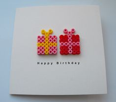 Perler presents birthday card