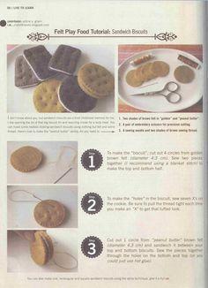 ..................... my felt friends ......................: Felt Sandwich Biscuits Tutorial in I.M. magazine - Dec 2012