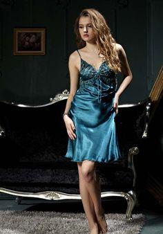 8a4d0be9bf Silk Blend Gorgeous Women Sleepwear Sleep Dress Slip Lace Robe Gown Sets  Gifts