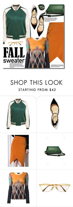 """Street Style - Fall Sweaters"" by beebeely-look ❤ liked on Polyvore featuring Christian Louboutin, Etro, Persol, StreetStyle, Sweater, streetwear, fallsweaters and dezzal"