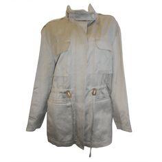1stdibs.com | Hermes Hooded Safari Jacket with leather details