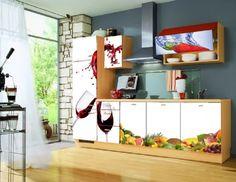 Montajes de impresiones digitales para cocinas y armarios