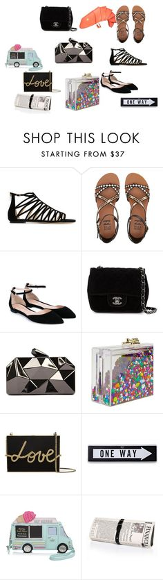"""Some Items I llike"" by diceice42 on Polyvore featuring Jimmy Choo, Billabong, Gianvito Rossi, Chanel, WithChic, Ashlyn'd, Lanvin, Moschino, Kate Spade and Papà Razzi"