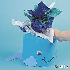 Whale tissue box...centerpiece for a birthday