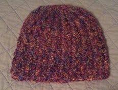 Purple Tweed Crochet Winter Hat by CrochetandMacrame on Etsy, $9.99