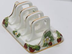 Items similar to Hammersley Spode Strawberry Ripe Toast Server Fine Bone China England Letter Holder too! on Etsy Strawberry Kitchen, Strawberry Recipes, Toast Rack, Strawberry Fields Forever, Strawberry Patch, Letter Holder, Bone China, Kitchenware, Tea Time